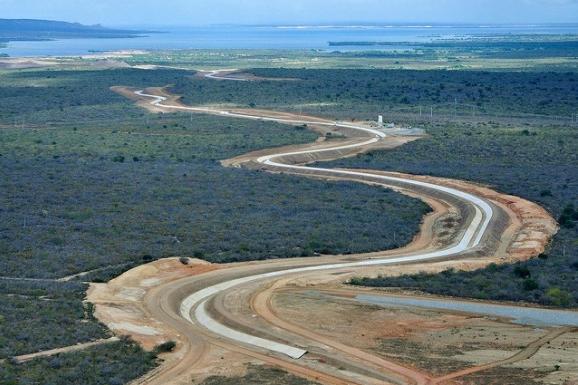 Resultado de imagem para imagens da transposição do rio são francisco na paraiba monteiro