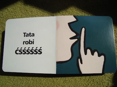 księga dźwięków, książka z wyrazami dźwiękonaśladowczymi,