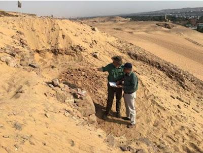 Dinding Kuno Tersembunyi ditemukan di Dekat Kota Mesir