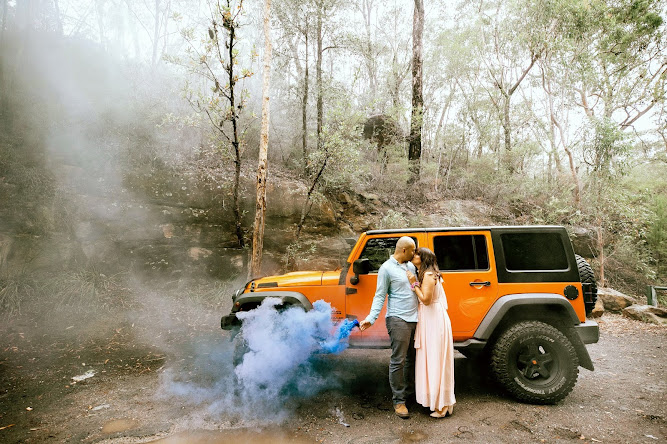 Blue Smokebomb Jeep