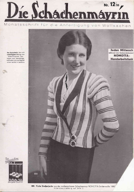 The Vintage Pattern Files: Free 1930's German Knitting Booklet - Die Schachenmayrin 12/33