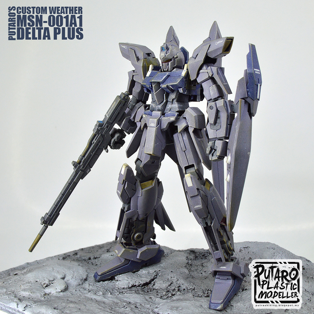 HGUC 1/144 MSN-001A1 DELTA PLUS custom by Putra Shining