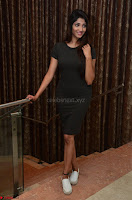 Priya Vadlamani super cute in tight brown dress at Stone Media Films production No 1 movie announcement 044.jpg