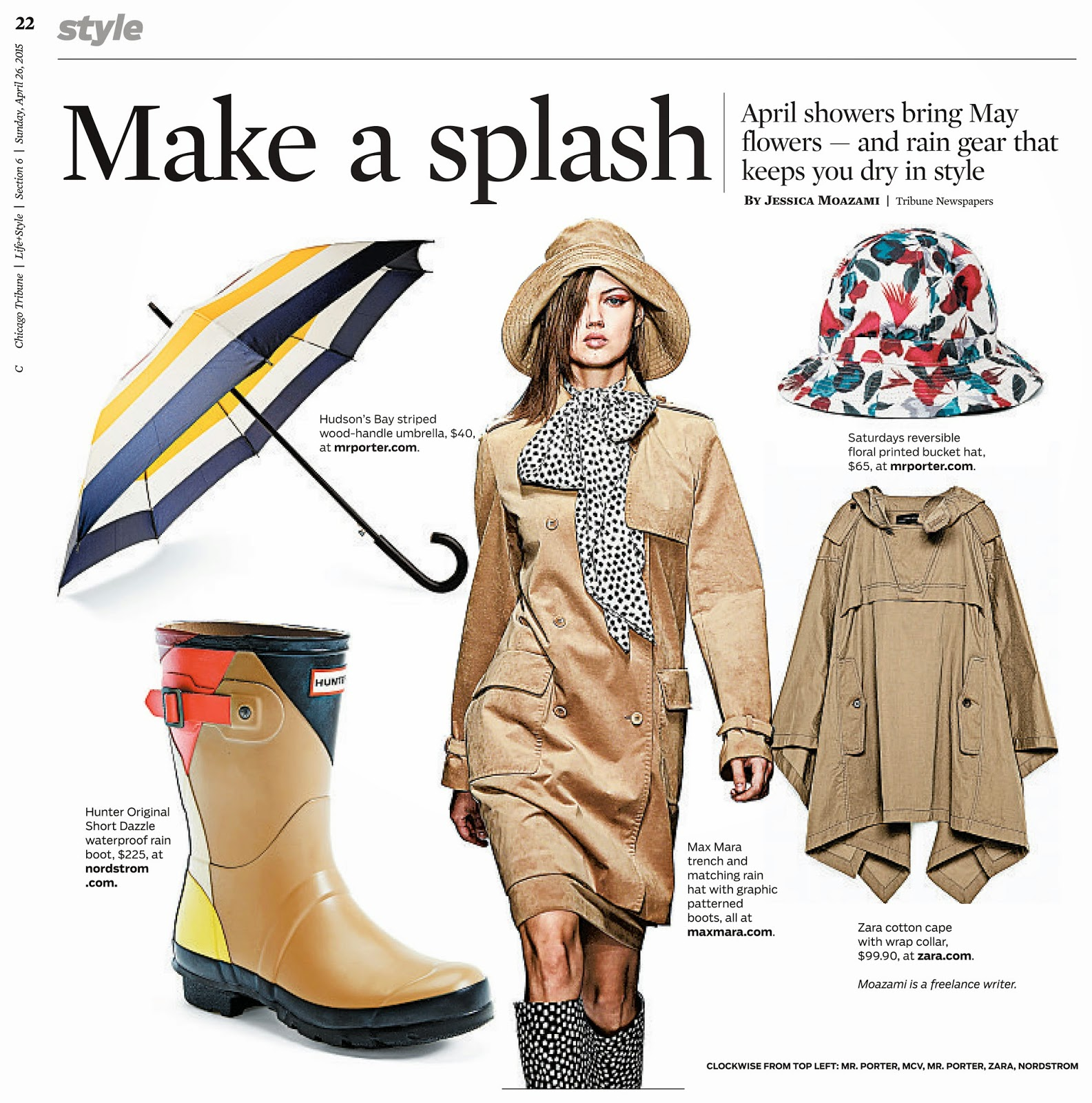 Chicago Tribune make a splash spring fashion by Jessica Moazami