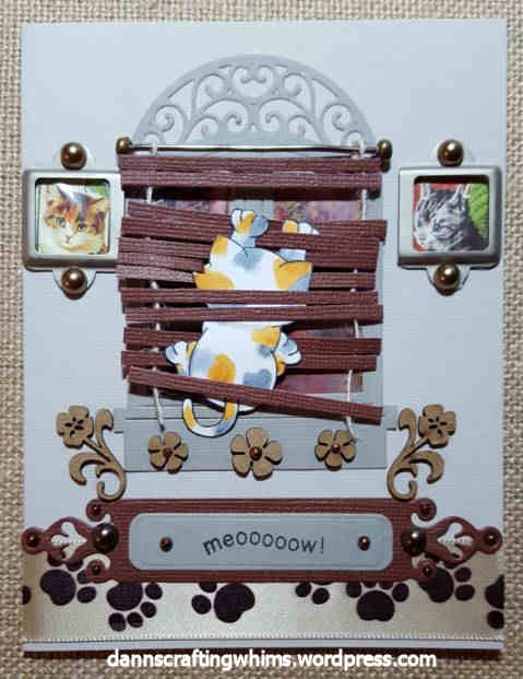 Naughty Kitty card by D'Ann | Naughty Newton stamp set by Newton's Nook Designs #newtonsnook