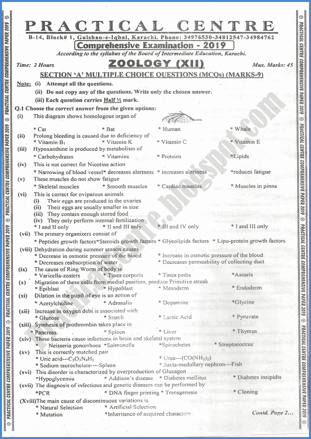 zoology-xii-practical-centre-guess-paper-2019-science-group