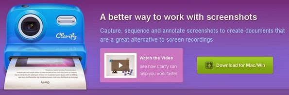 Clarify screenshot software