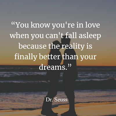 You know you're in love when you can't fall asleep