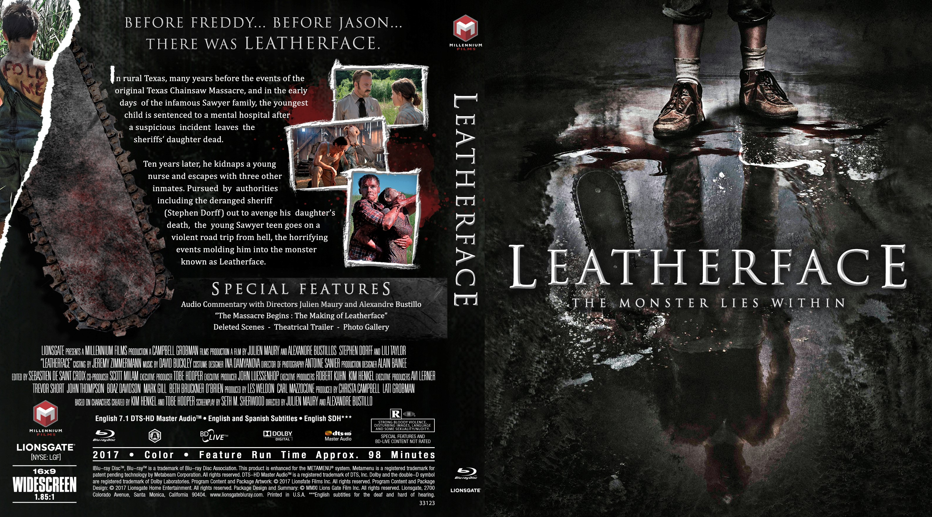 Leatherface Bluray Cover Cover Addict Free Dvd Bluray
