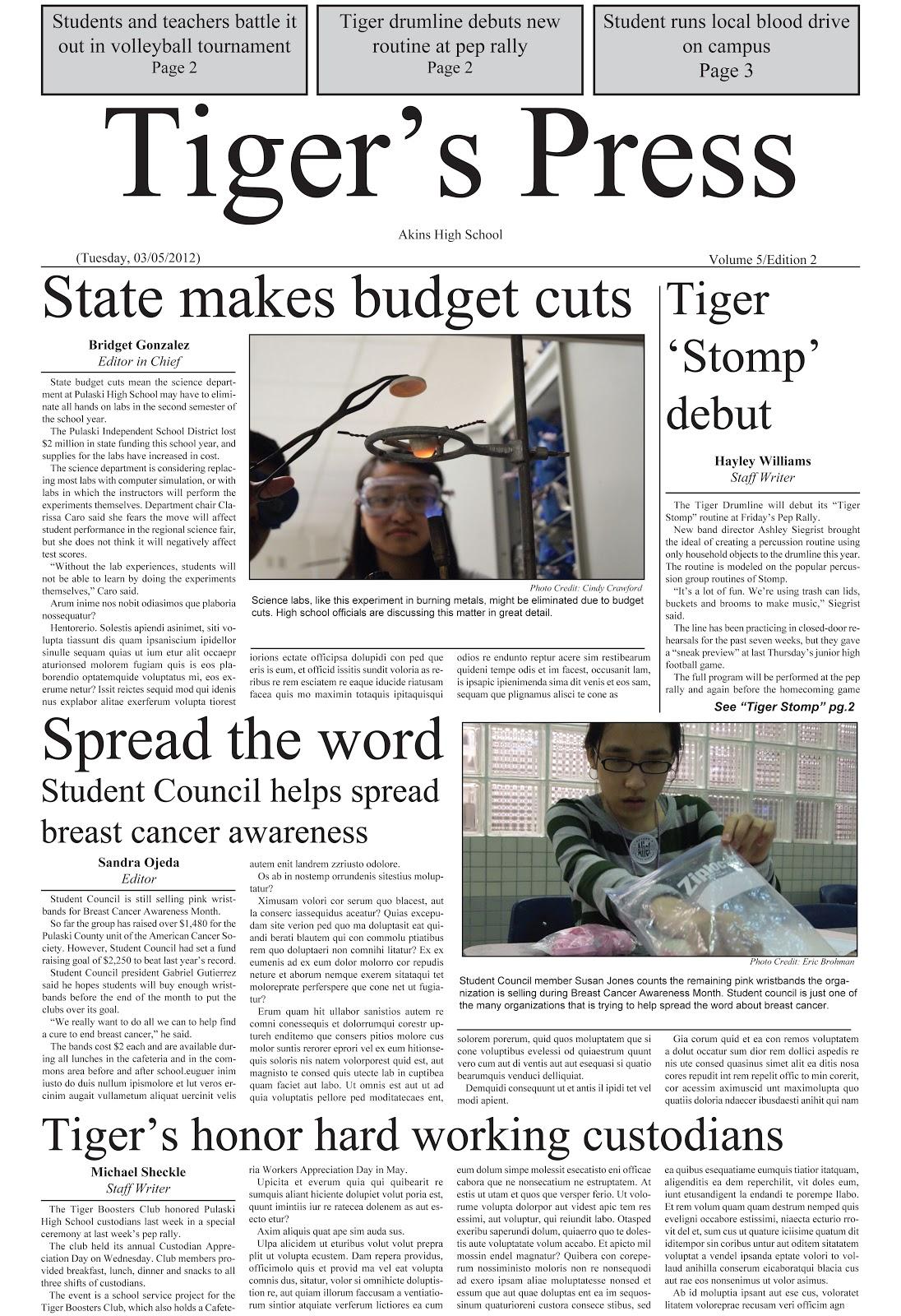 How to Write a Newspaper Photo Caption