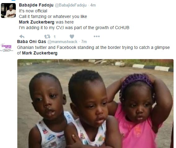 See funny tweets by Nigerians as Mark Zuckerbeg visits
