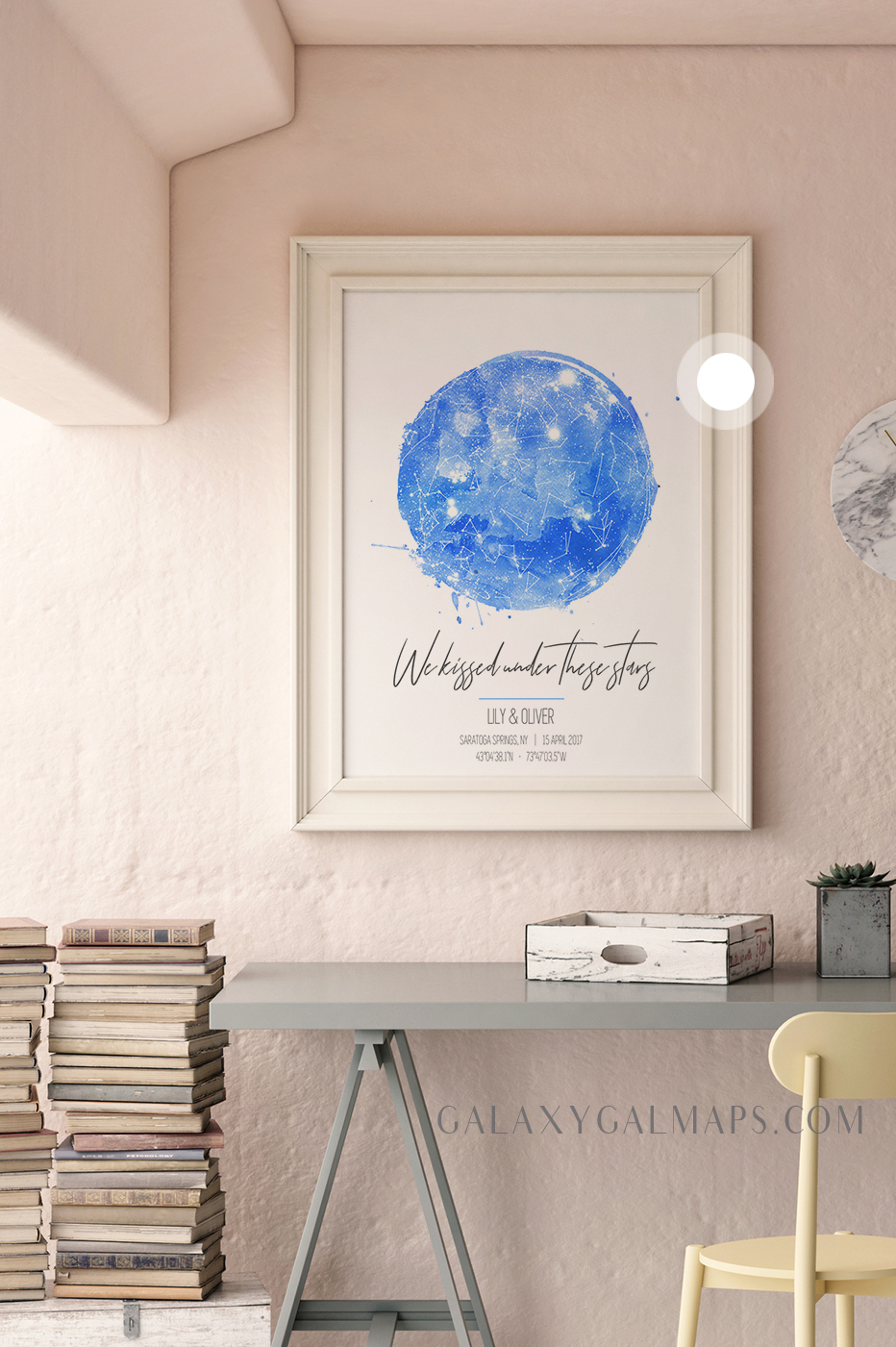 custom star map star map wall art bless this home closing gift new home housewarming gift personalized family name sign house warming address