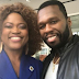 (Photos) Nigerian-born actress, Queen Blessing Itua pictured with 50cent and Chilli Of TLC on Hollywood movie set!