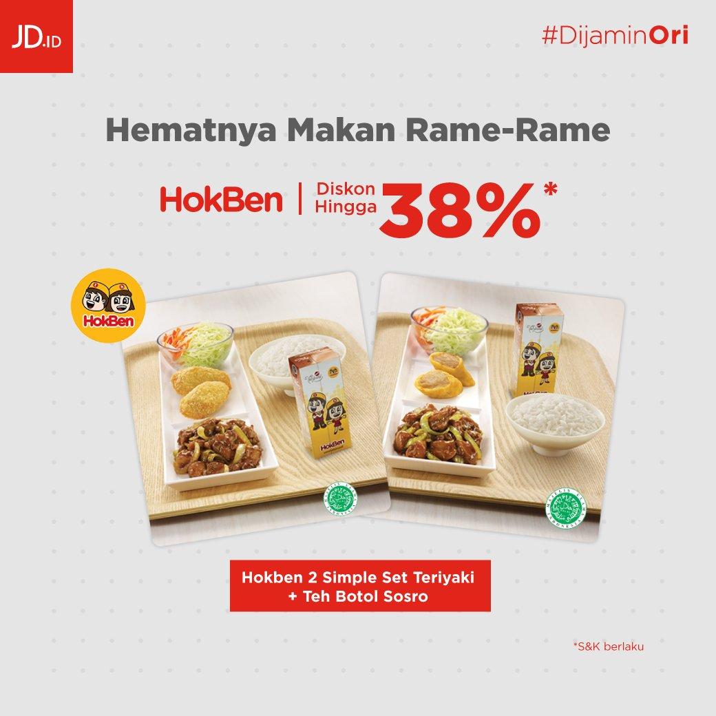 JDID - Promo Hemat Hokben Diskon s.d 38%