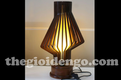 Thế Giới Đèn Gỗ - Đèn gỗ trang trí ống khói để bàn