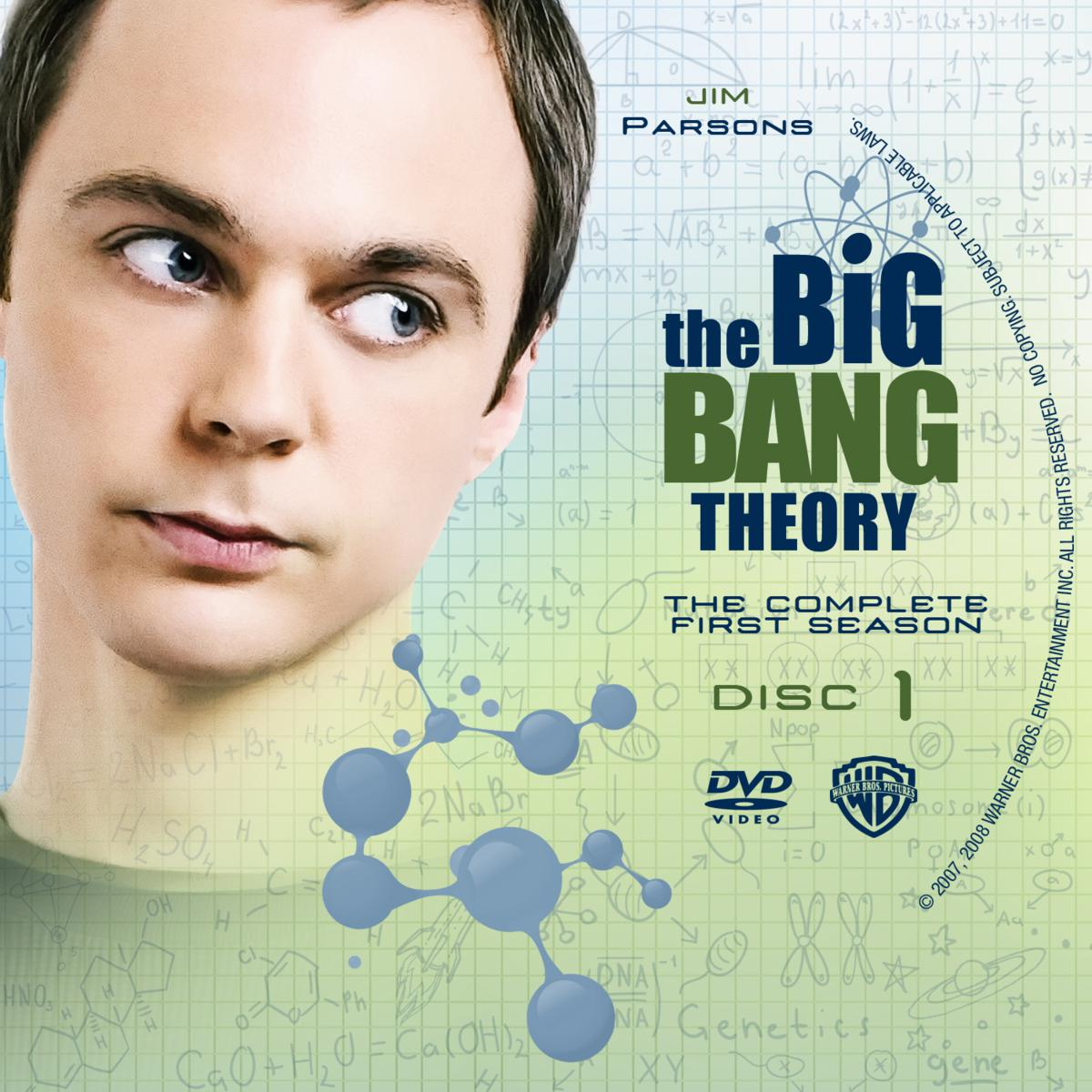 Labels DVD The Big Bang Theory Primeira Temporada Completa