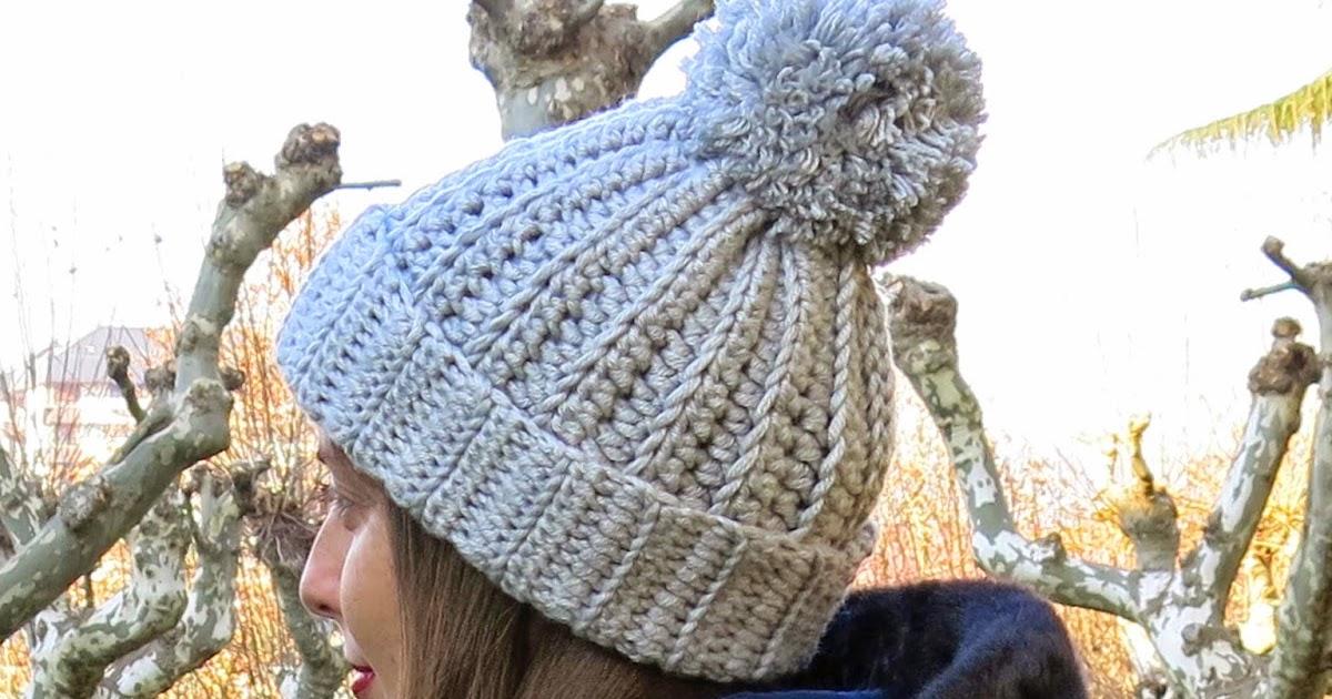 Gorro con pompón | Espacio Crochet