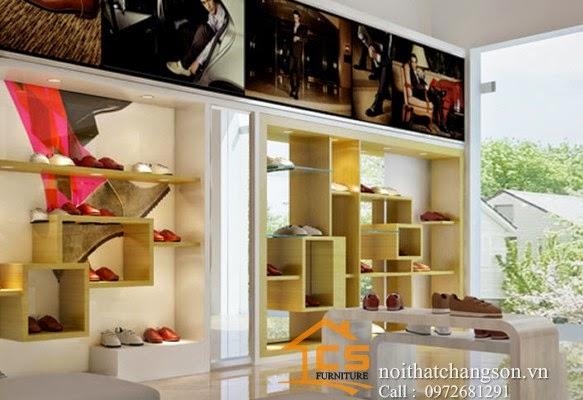 Thiết kế nội thất shop giầy Cô Hoan Phú Xuyên - Nội thất chàng sơn