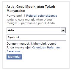ini cara membuat fanspage facebook