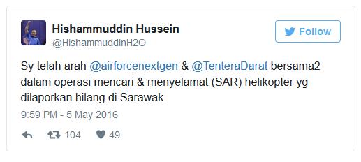 tweet menteri pertahanan