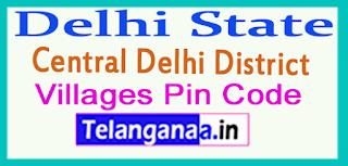 Central Delhi District Pin Codes in Delhi State