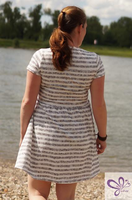 Dandelion Dress von shhhout! Streifenliebe, Streifenjersey, Sommerkleid, Sommerkleidchen