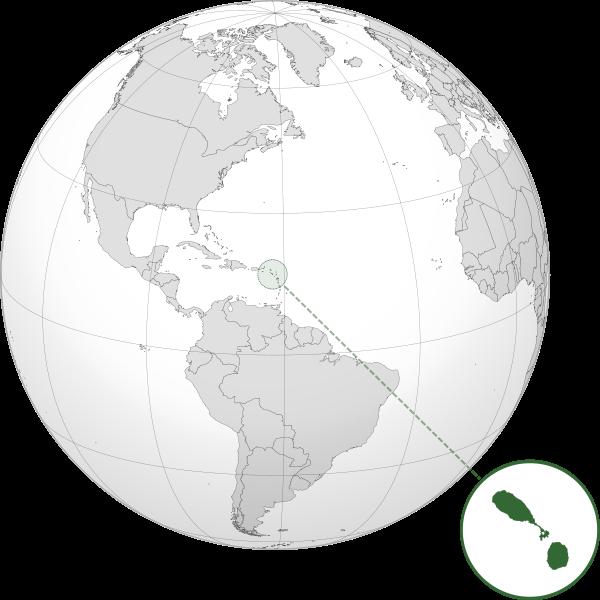 Letak negara Saint Kitts and Nevis