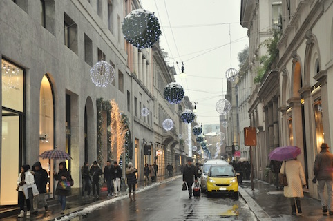 Via Montenapoleone e lo shopping