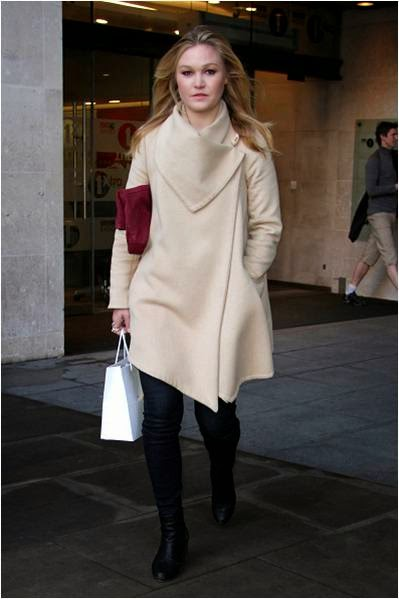 Julia Stiles Wearing Parker Smith in London