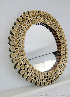 kerajinan dari bambu sederhana, bingkai kaca cantik