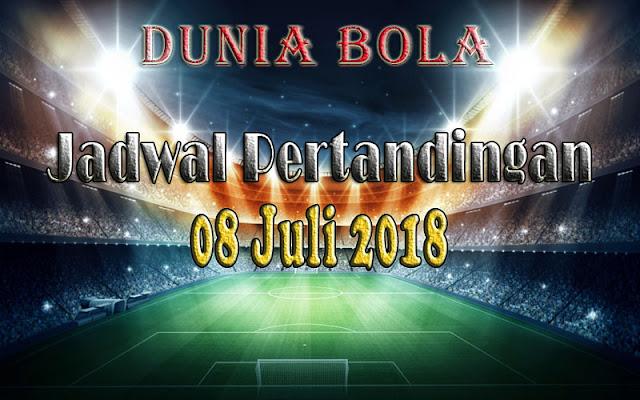 Jadwal Pertandingan Sepak Bola Tanggal 08 Juli 2018