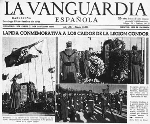 Condor Memorial dedication in Spain, 23 November 1941 worldwartwo.filminspector.com