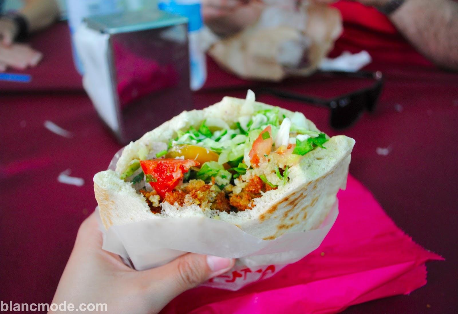 falafel sandwich in nazareth