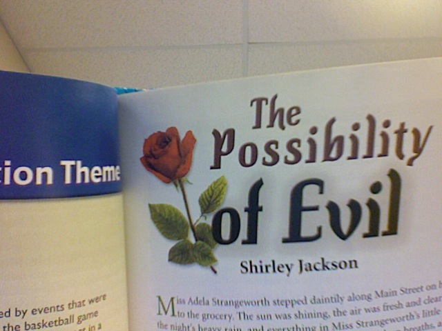 The Possibility of Evil Essay - Words