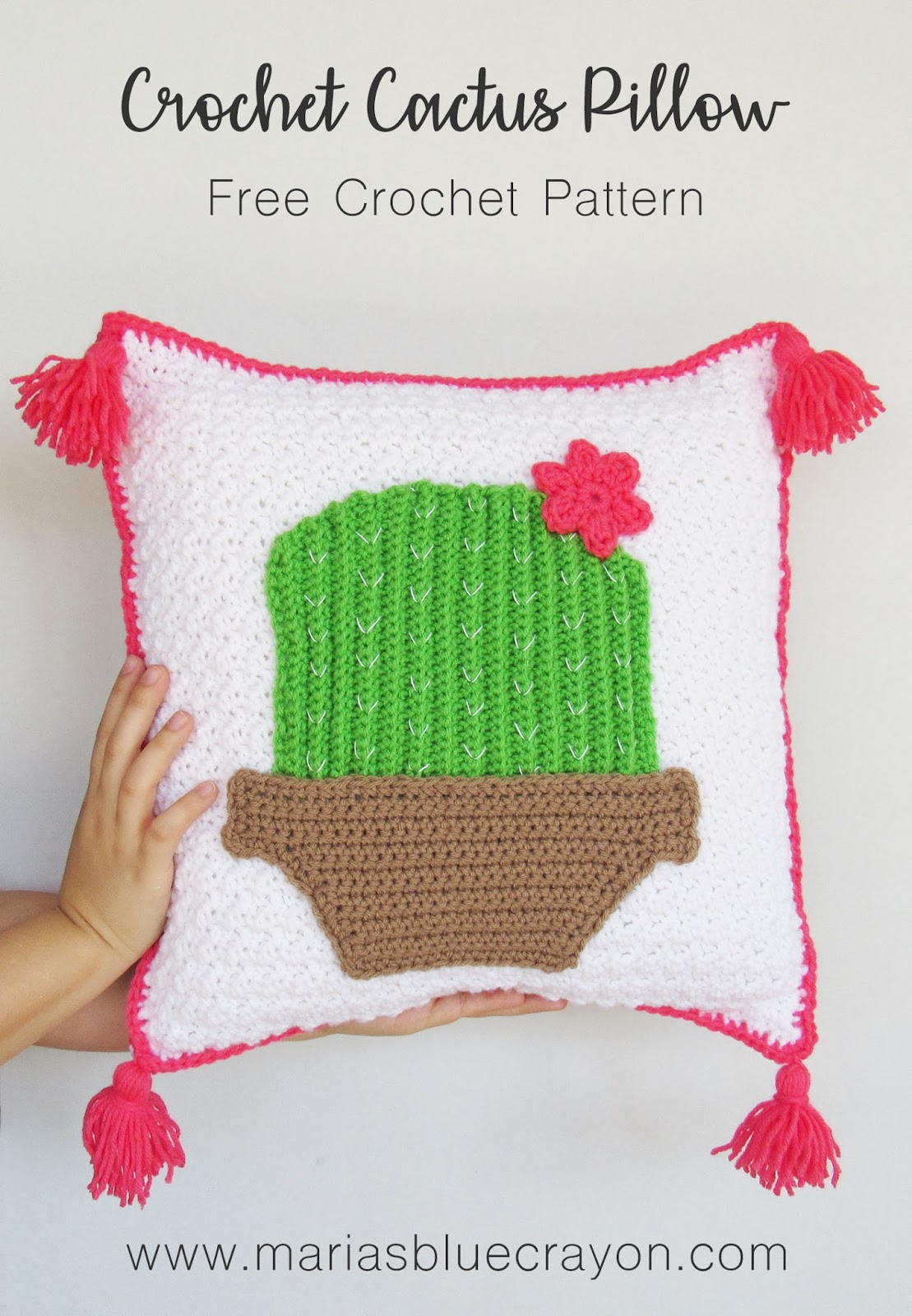 Spring Blog Hop: Festive Cactus Pillow Cover - Free Crochet Pattern ...