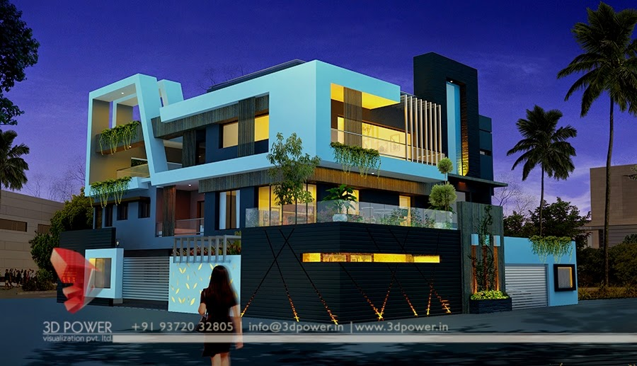 Exterior Rendering Bungalow In 3D