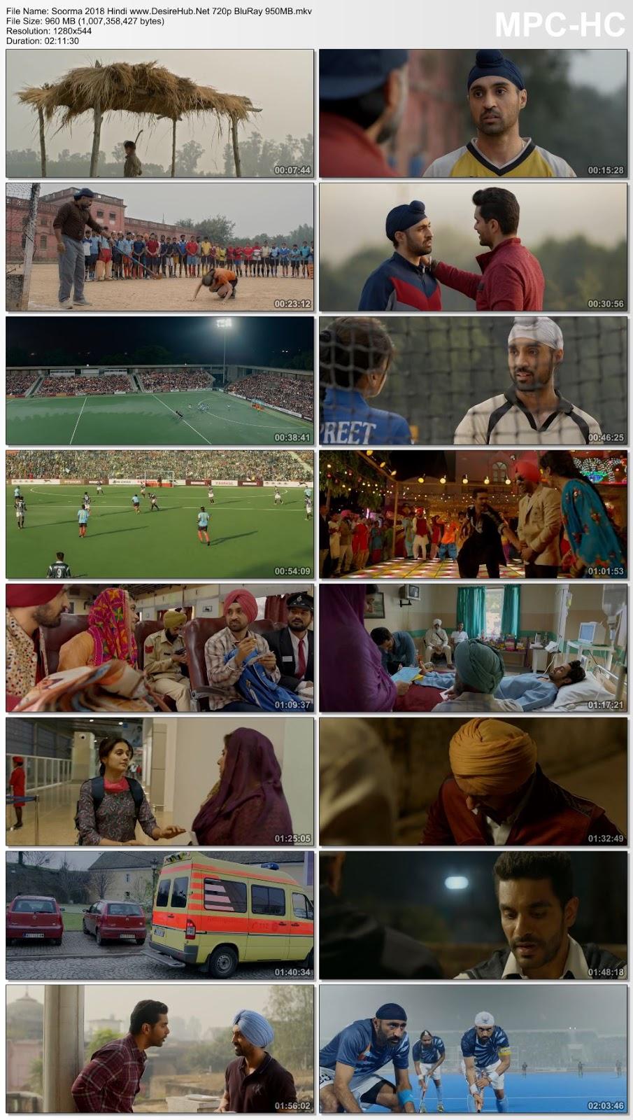 Soorma 2018 Hindi 720p BluRay 950MB Desirehub