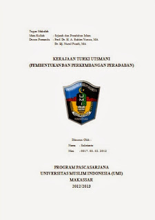Makalah Kerajaan Turki Utsmani Pembentukan Dan Perkembangan Peradaban Sentral Edukasi