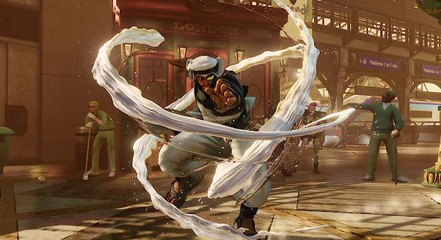 أول شخصية عربية في لعبة Street Fighter الملقبة باسم (رشيد - Rashid)