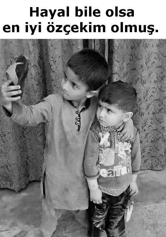 selfie, selfi, özçekim, çocuklar, gariban, terlik, yoksulluk, köylü,