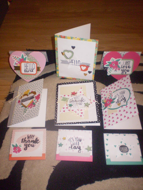 My cards made from the kit