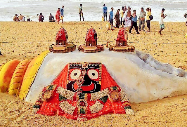 Rathyatra 2016 - Awesome Sand Sculpture By Sudarsan Pattnaik @Puri Sea Beach