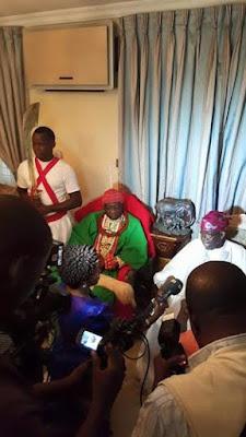 Olu of Warri, Prince Godfrey Ikenwoli, Emiko Ogiame Ikenwole 1, pay a courtesy visit to Asiwaju Bola Tinubu