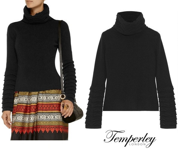The Duchess Of Cambridge's TEMPERLEY LONDON Honeycomb Sweater