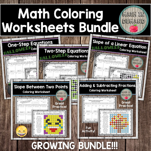 Math Coloring Worksheets (Math Color by Number)