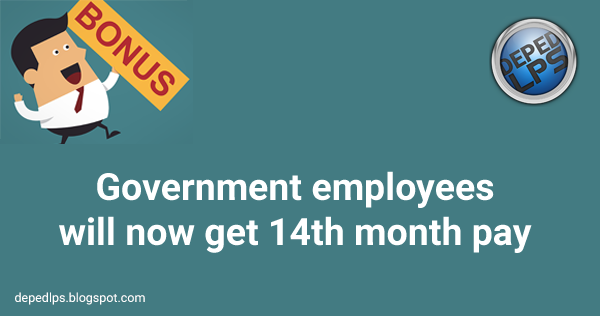 Government employees will now get 14th month pay