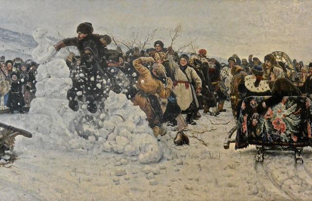 Vassili Sourikov : La prise de la forteresse de neige Musée russe Saint Pétersbourg