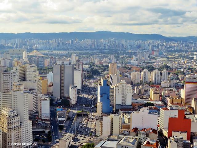 Vista ampla de parte do Centro e do Bairro da Luz - São Paulo