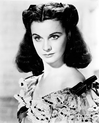 Vivien Leigh as southern belle Scarlet O'Hara in Margaret Mitchell's Gone with the Wind, directed by Victor Fleming
