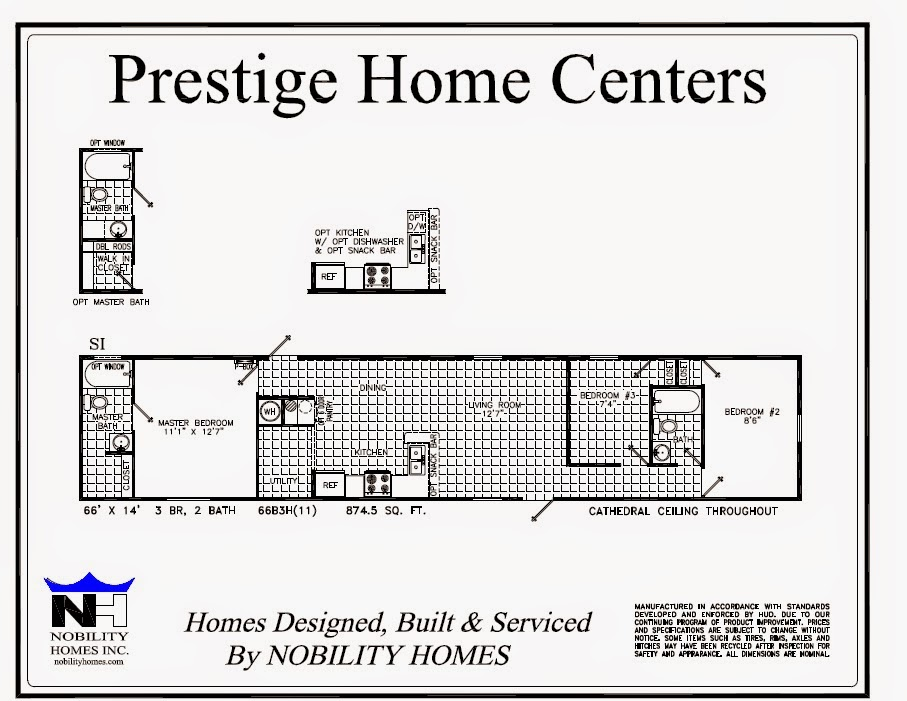 Single wide homes many plans available prestige home for 14 wide mobile home floor plans